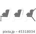 チャイルドシートの取り付け方式(Isofixとシートベルトの固定) 45318034