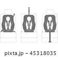 チャイルドシートの取り付け方式(Isofixとシートベルトの固定) 45318035