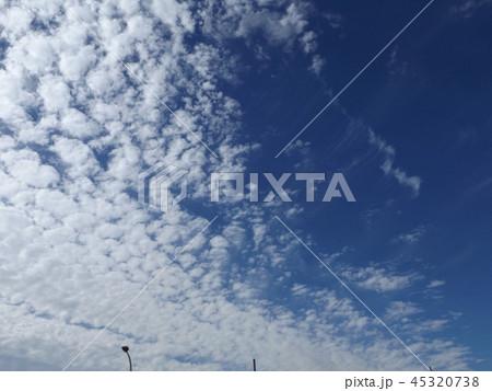 検見川の青い空に白い雲 45320738