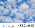 順光のふわふわした隙間雲 45321945