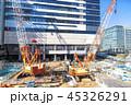 建設現場 建築現場 クレーンの写真 45326291