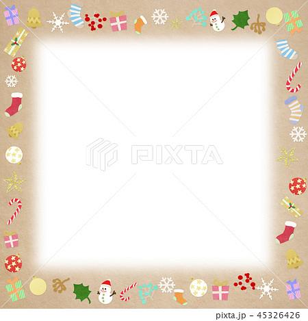 背景-クリスマス-飾り-フレーム 45326426