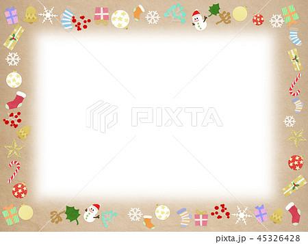 背景-クリスマス-飾り-フレーム 45326428