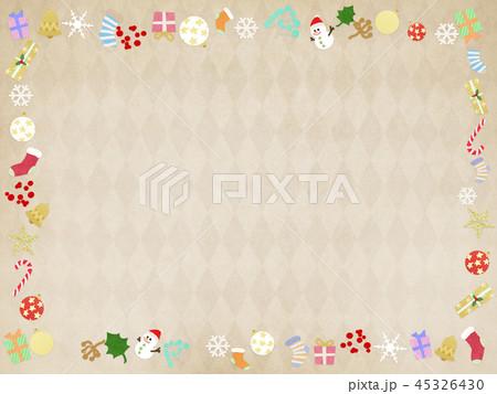 背景-クリスマス-飾り-フレーム 45326430