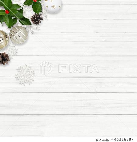 背景-白壁-クリスマス-飾り 45326597