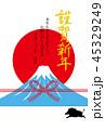 年賀状 富士山 謹賀新年のイラスト 45329249