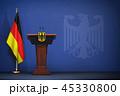 ドイツ 旗 フラッグのイラスト 45330800