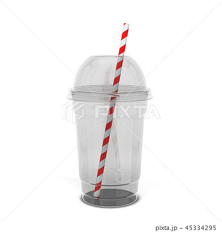 Transparent plastic cup for juice and other drinks 45334295
