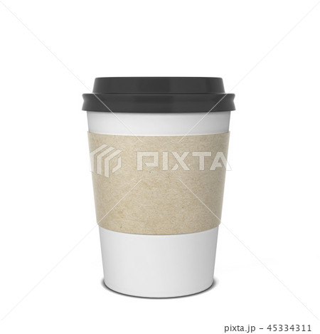 Blank paper coffee cup mock up 45334311