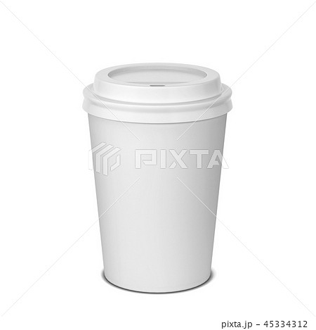 Blank paper coffee cup mock up 45334312