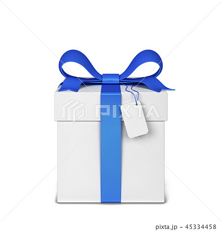 Gift box with colourful bow and ribbon 45334458