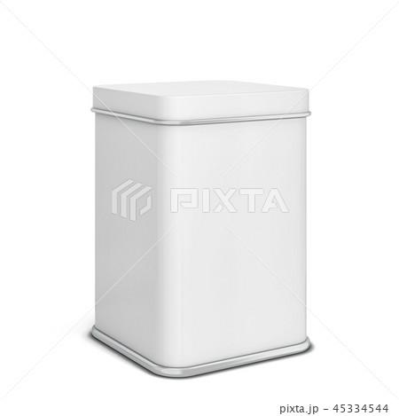 Rectangular tin can for tea or coffee 45334544