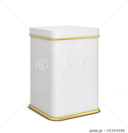 Rectangular tin can for tea or coffee 45334590