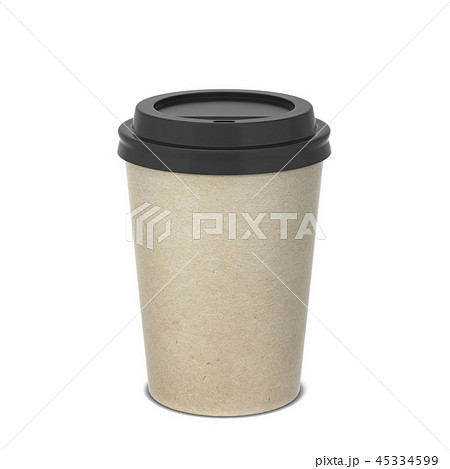 Blank paper coffee cup mock up 45334599