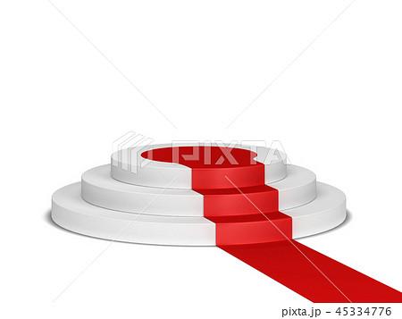 Podium with red carpet 45334776