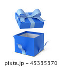Opened gift box with colourful bow and ribbon 45335370