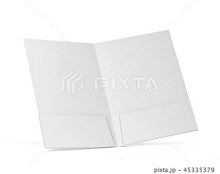 Blank paper folder mockup 45335379