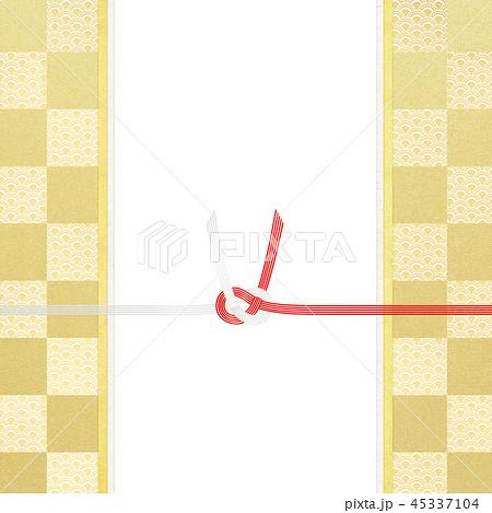 和-和風-和紙-和柄-背景-水引-のし紙-ご祝儀袋 45337104