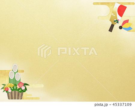 和-和風-和柄-和紙-背景-門松-羽子板-金箔-正月 45337109