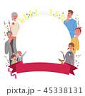 家族 フレーム イラスト 45338131