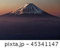 富士山 朝焼け 冬の写真 45341147