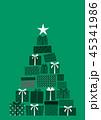 クリスマス プレゼント クリスマスツリーのイラスト 45341986