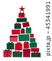 クリスマス プレゼント クリスマスツリーのイラスト 45341991