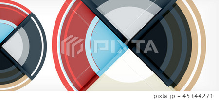 Circle abstract background, geometric modern design template 45344271