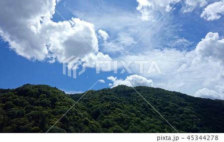 日本 京都 嵐山 稜線と青空 Japan Kyoto Arashiyama ridgeline 45344278