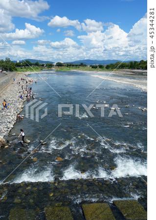 日本 京都 嵐山 桂川 渡月橋からの風景 Japan Kyoto Arashiyama 45344281