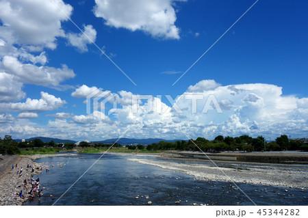 日本 京都 嵐山 桂川 渡月橋からの風景 Japan Kyoto Arashiyama 45344282