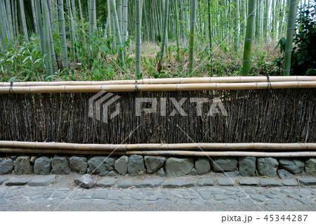 日本 京都 竹藪と石畳 和の風景 Japan Kyoto Bamboo bushes 45344287