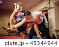 女性 拳闘 フィットネスの写真 45344944