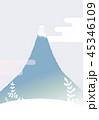 富士山 雲 雪のイラスト 45346109
