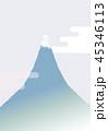 富士山 富士 雲のイラスト 45346113