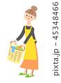 女性 家事 洗濯のイラスト 45348466