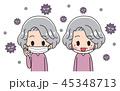 ベクター お婆ちゃん マスクのイラスト 45348713