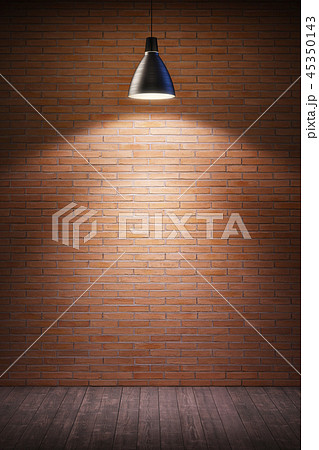 room interior with lamp at night 45350143