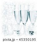 シャンパン シャンペン クリスマスの写真 45350195