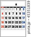 商店カレンダーの素日付アリ03 45351839