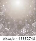 雪の結晶 キラキラ 背景のイラスト 45352748