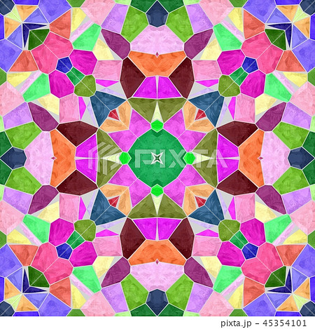 mosaic kaleidoscope seamless pattern background 45354101