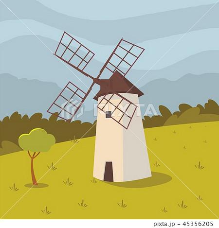 Vector concept image farming rural landscape 45356205