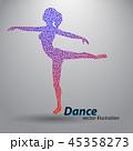 ダンサー 人々 人物のイラスト 45358273