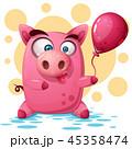 ぶた ブタ 豚のイラスト 45358474
