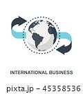 インターナショナル グローバル 世界のイラスト 45358536