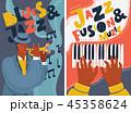 ジャズ 音楽 ピアノのイラスト 45358624