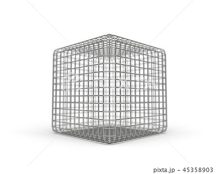 simple faraday cage design made of iron. 3d illustration 45358903