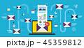 メッセージ メール Eメールのイラスト 45359812