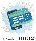チケット スマートフォン ベクタのイラスト 45361323